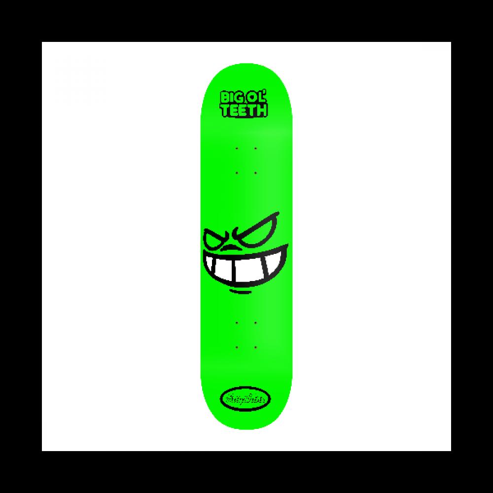 Rayshine Big OL Teeth Green Cartoon Medium Concave Deck