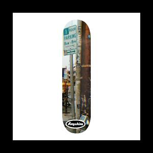 Rayshine Brand California Street No Parking Sign Medium Concave Deck