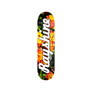 Rayshine Brand Red and Yellow Flowers Medium Concave Deck
