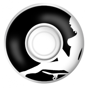 52mm Skateboard Wheel Set (Black)