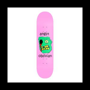 Oblivian skateboard deck graphic