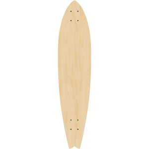 Blank Fishtail Longboard SINGLE