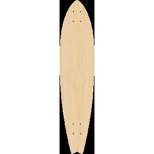 Blank Fishtail Longboard SINGLE