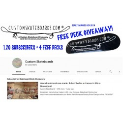 Free Skateboard Deck Giveaway