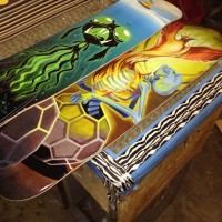 Canvas for Printing Skateboards