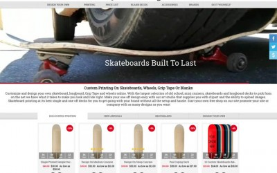 Custom Skateboard Store Wide Sale!
