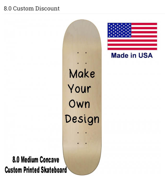 Best custom skateboard with your own graphic only $20 00