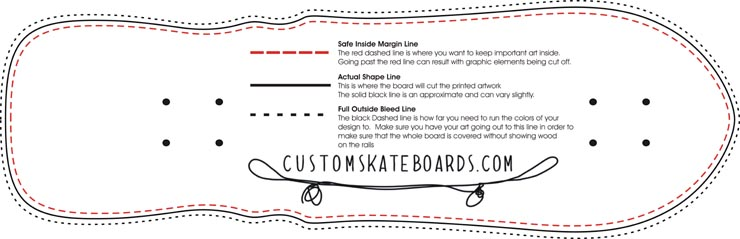 skateboard design template for every shape and size wholesale